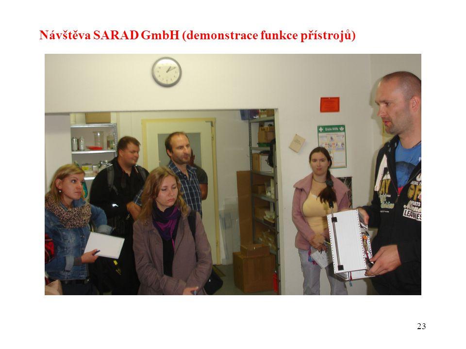 23 Návštěva SARAD GmbH (demonstrace funkce přístrojů)