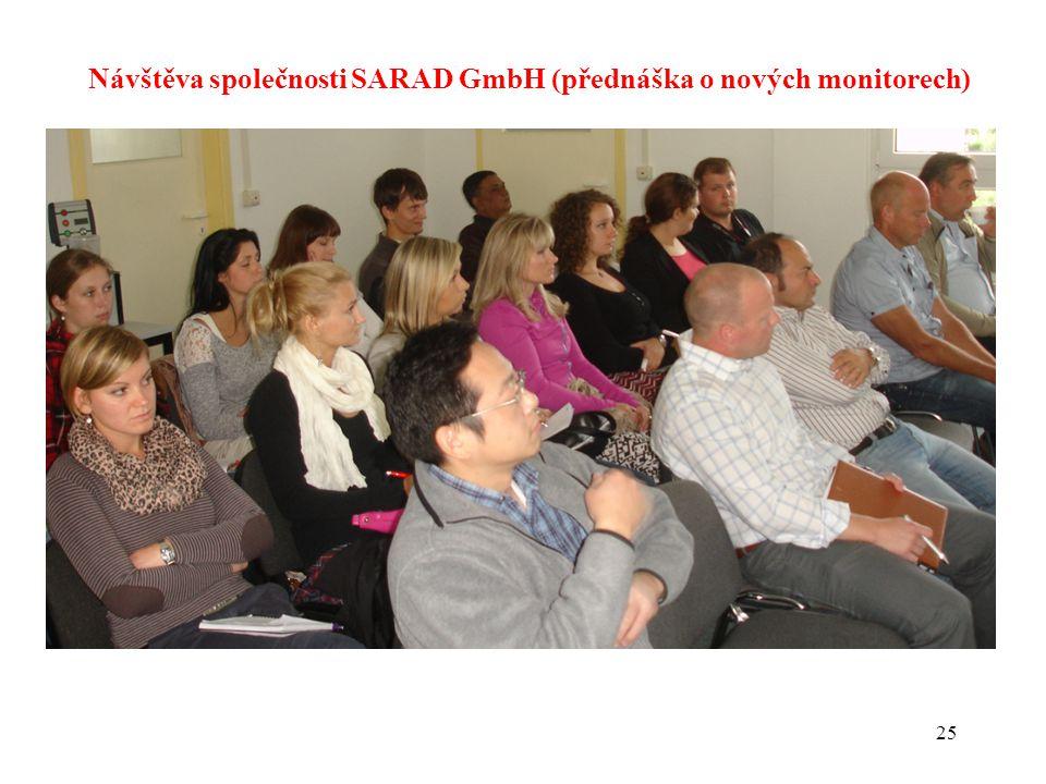25 Návštěva společnosti SARAD GmbH (přednáška o nových monitorech)