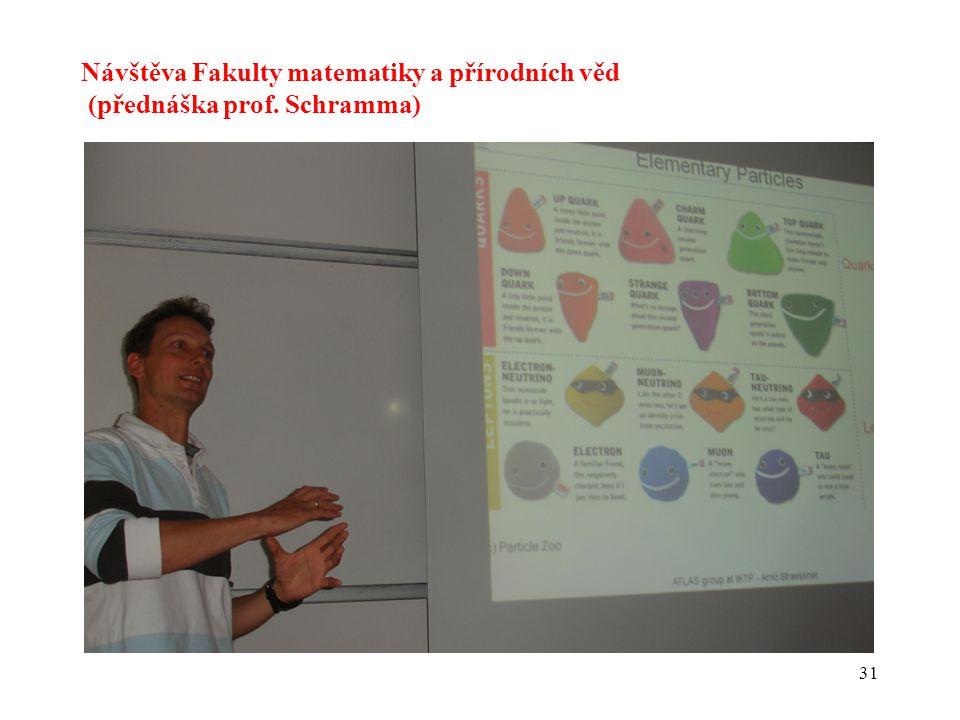 31 Návštěva Fakulty matematiky a přírodních věd (přednáška prof. Schramma)
