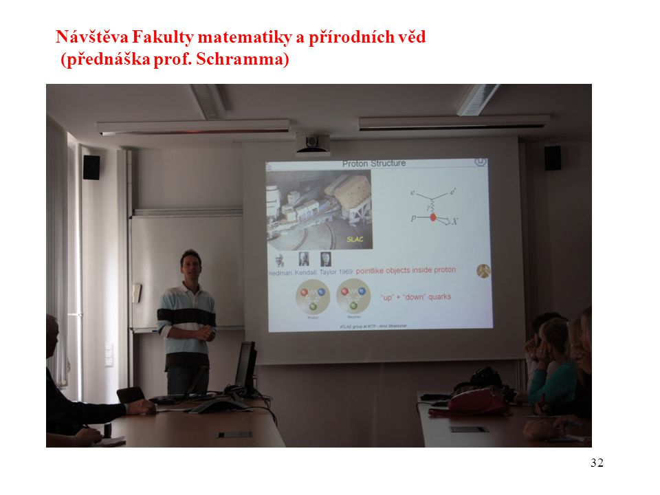 32 Návštěva Fakulty matematiky a přírodních věd (přednáška prof. Schramma)