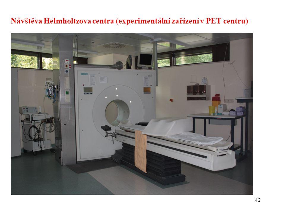 42 Návštěva Helmholtzova centra (experimentální zařízení v PET centru)