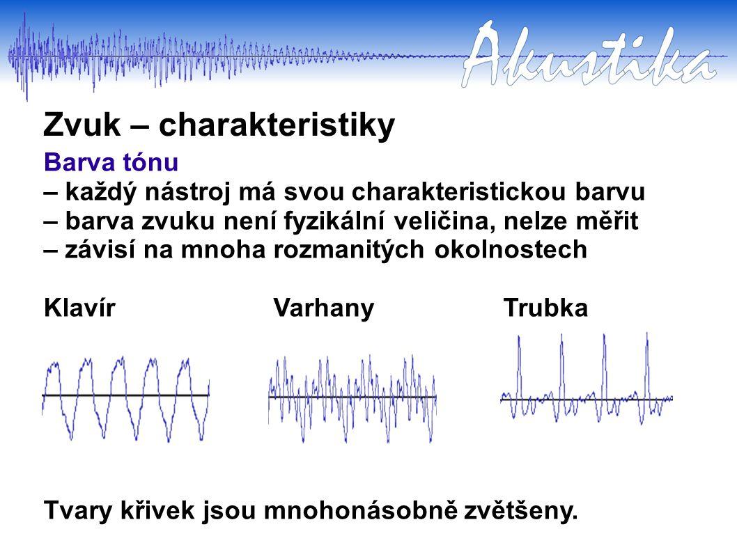 Zvukovou vlnu si můžeme znázornit jako sinusoidu. Každý nástroj se rozeznívá kromě jedné základní frekvence v několika dalších (vyšších harmonických)