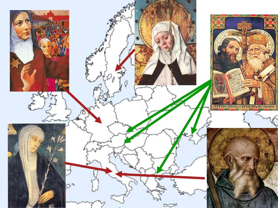 * mapa Evropy a obrázky patronů
