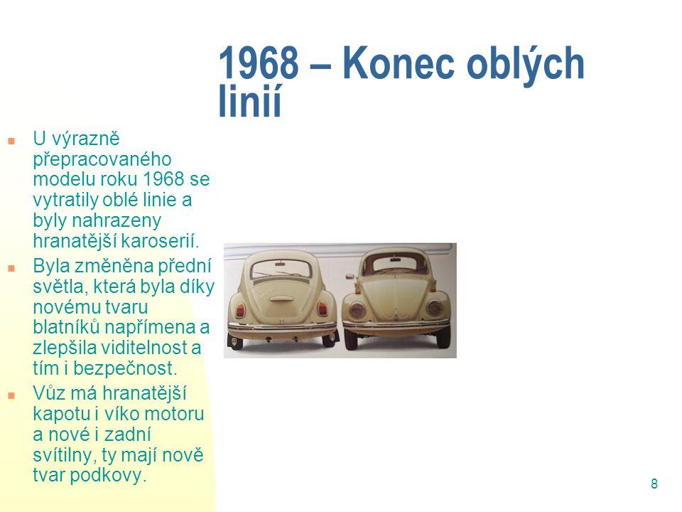 9 1974-model 1303,tzv.Superbrouk Brouk dostal nový systém pérování, McPhersonovo vzpěrné př.
