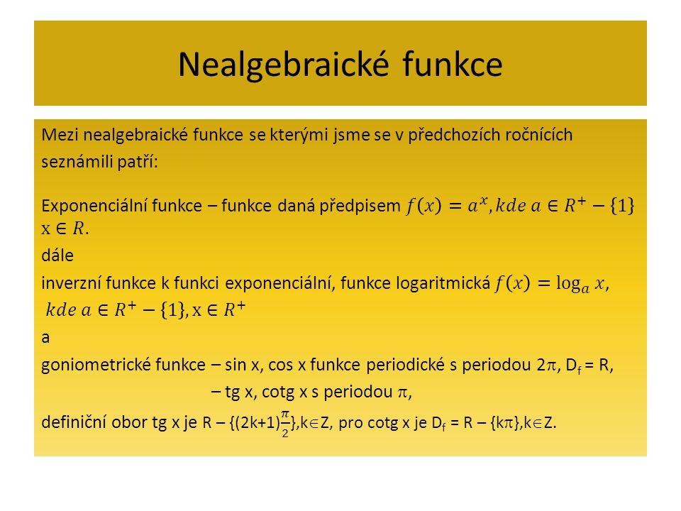 Nealgebraické funkce
