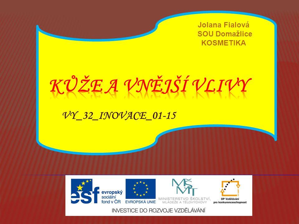 VY_32_INOVACE_01-15 Jolana Fialová SOU Domažlice KOSMETIKA