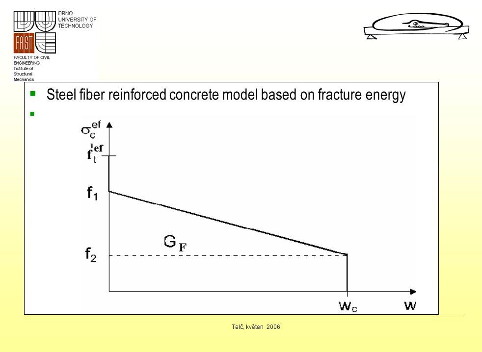 Telč, květen 2006  Steel fiber reinforced concrete model based on fracture energy 