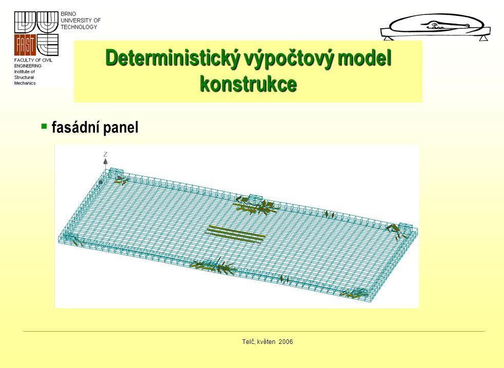 Telč, květen 2006 Deterministický výpočtový model konstrukce  fasádní panel