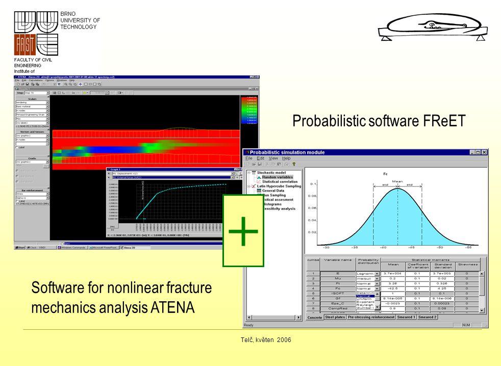 Telč, květen 2006 + Probabilistic software FReET Software for nonlinear fracture mechanics analysis ATENA