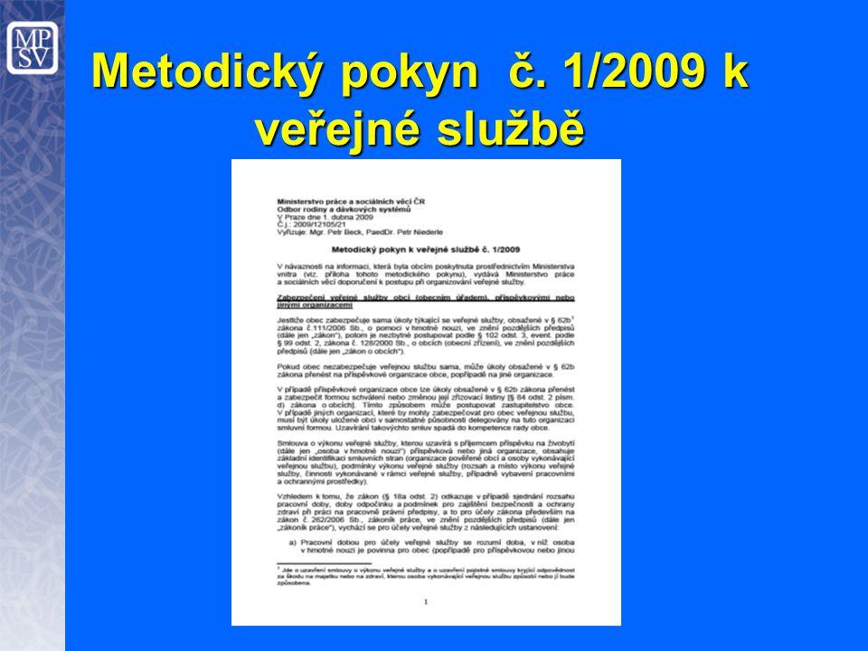Metodický pokyn č. 1/2009 k veřejné službě