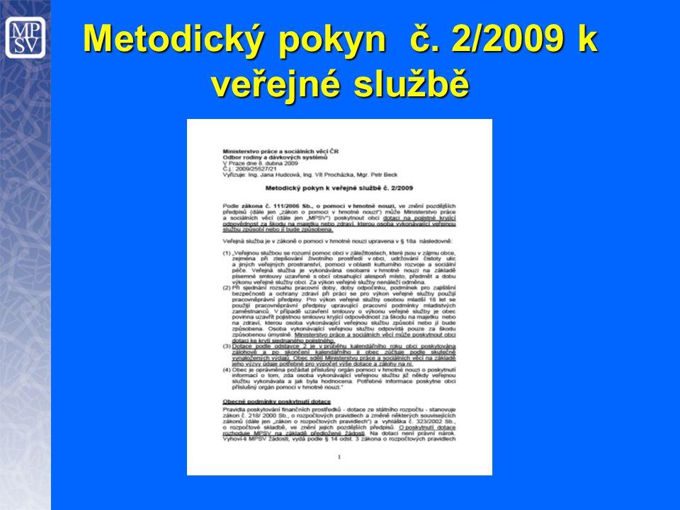 Metodický pokyn č. 2/2009 k veřejné službě