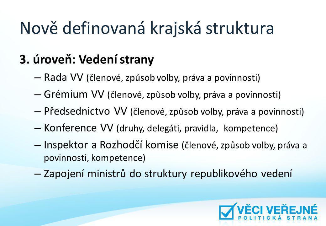 Nově definovaná krajská struktura 3.