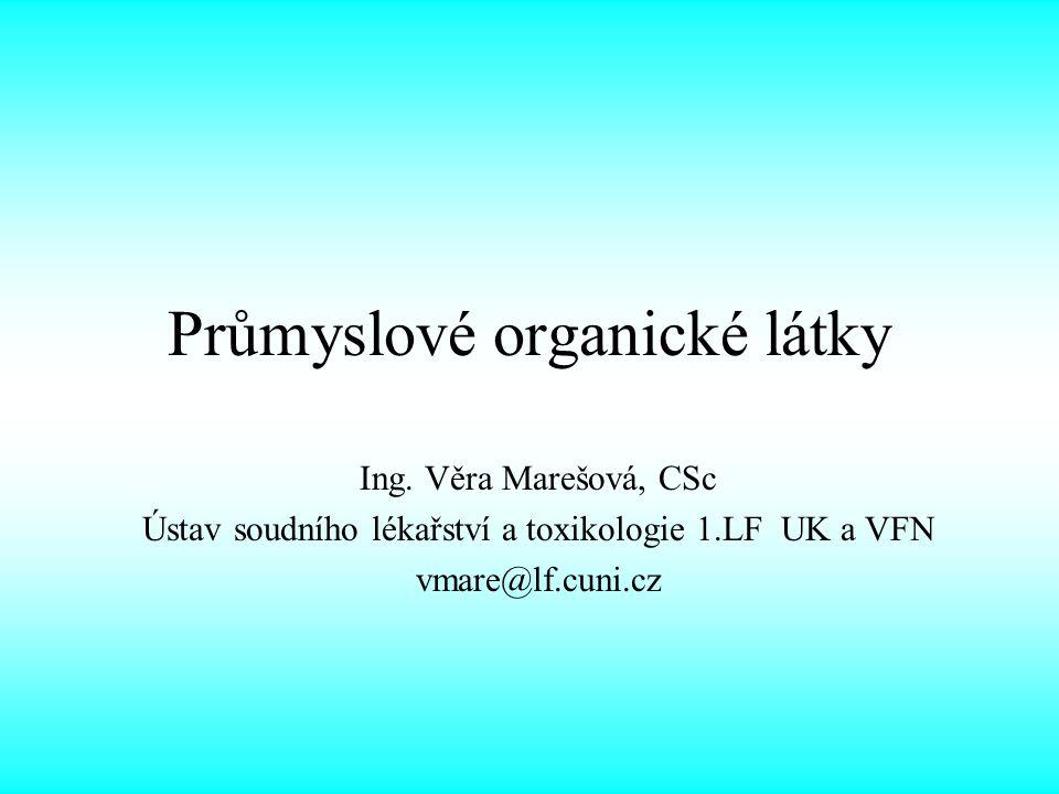 Průmyslové organické látky Ing.