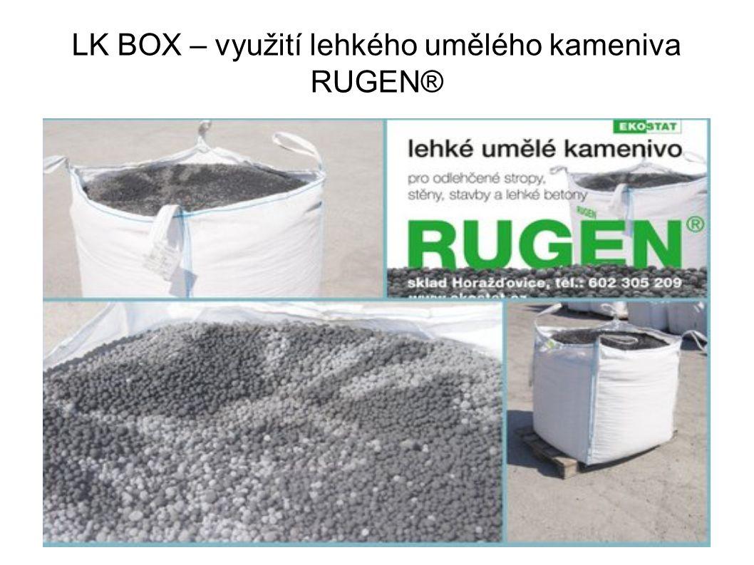 LK BOX – využití lehkého umělého kameniva RUGEN®