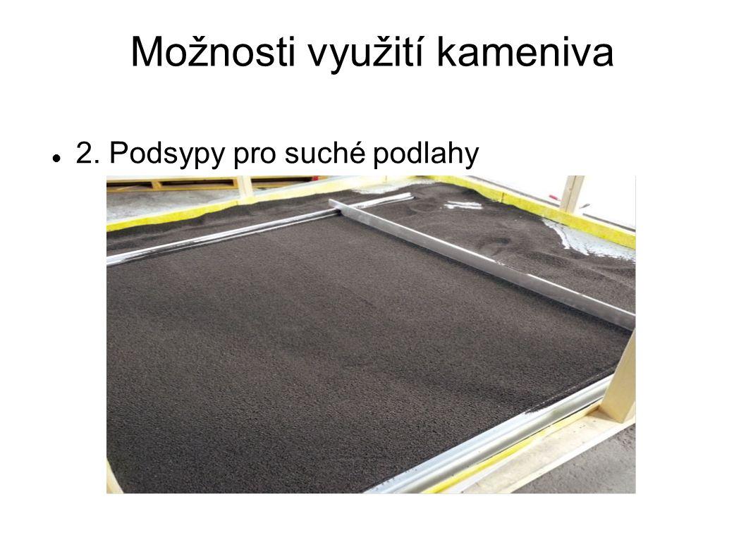 Možnosti využití kameniva 2. Podsypy pro suché podlahy