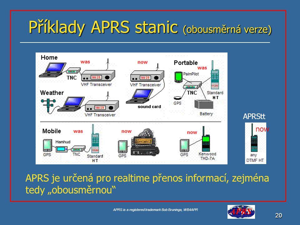 APRS is a registered trademark Bob Bruninga, WB4APR 21 TRACKERS Trackery neumožňují zobrazovat APRS data a reagovat na aktuální situaci na frekvenci.