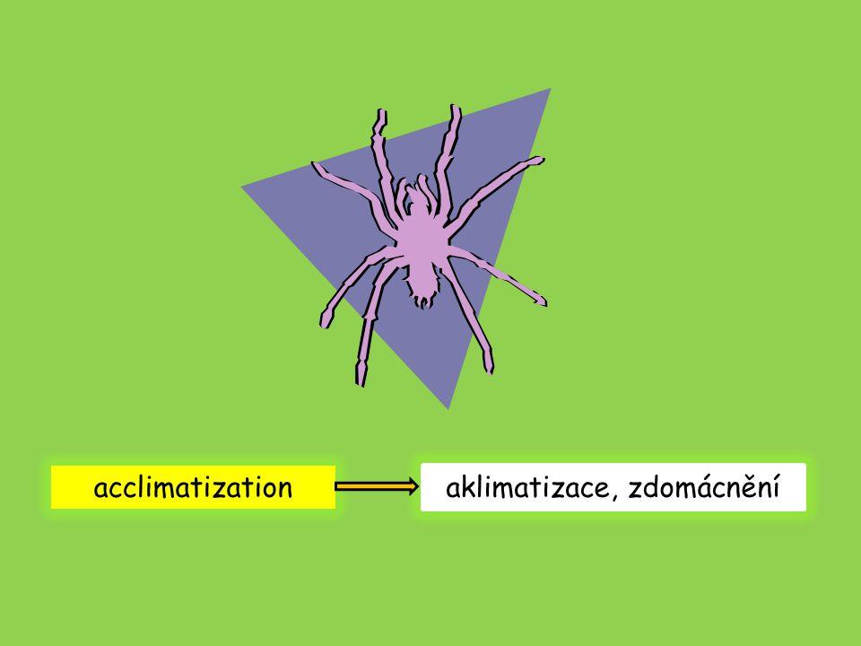 acclimatization aklimatizace, zdomácnění