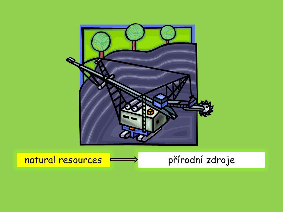natural resources přírodní zdroje