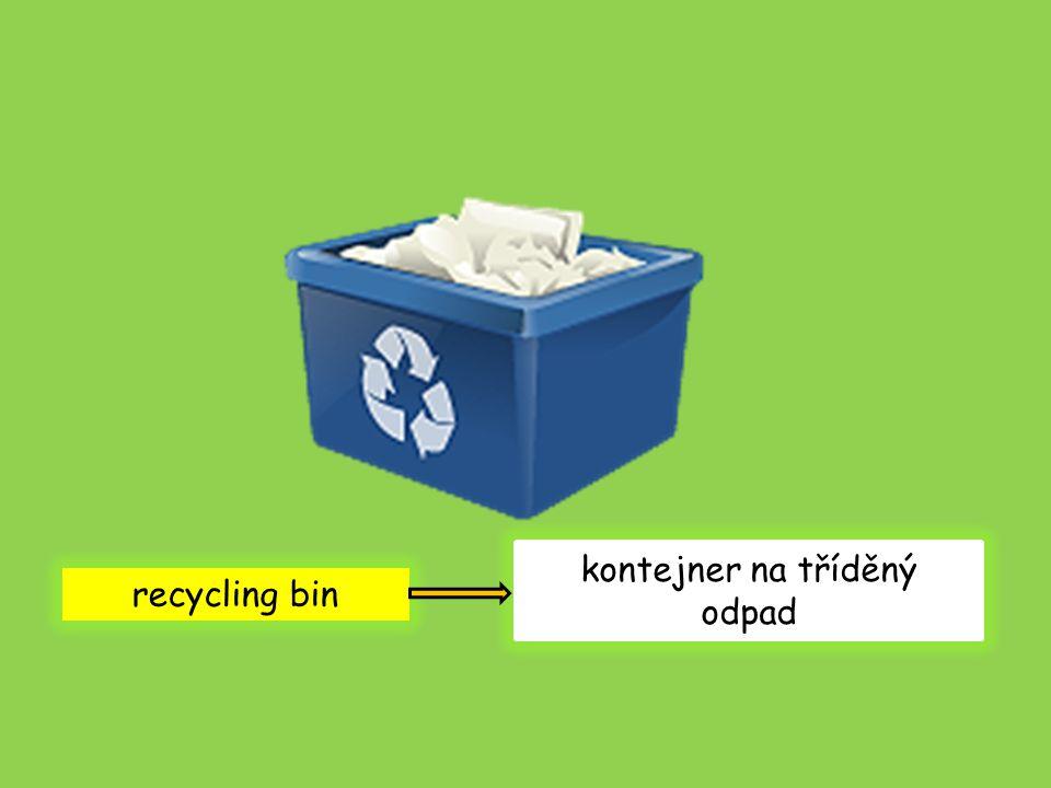 recycling bin kontejner na tříděný odpad