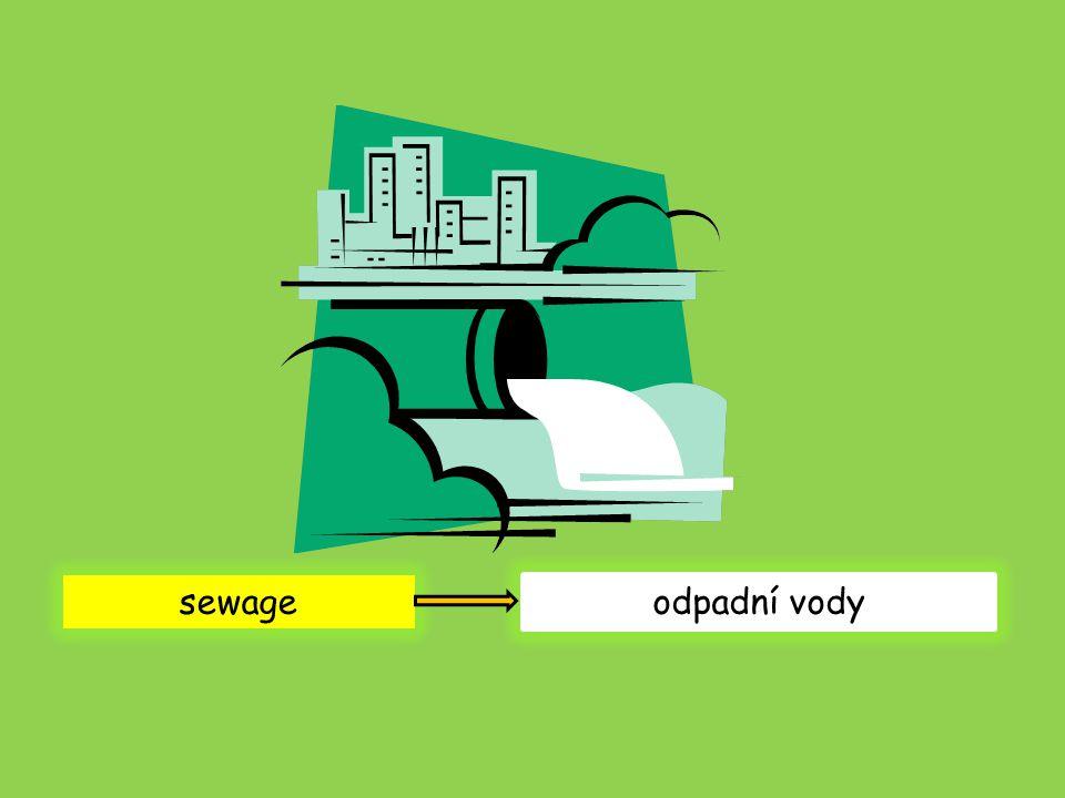 sewage odpadní vody