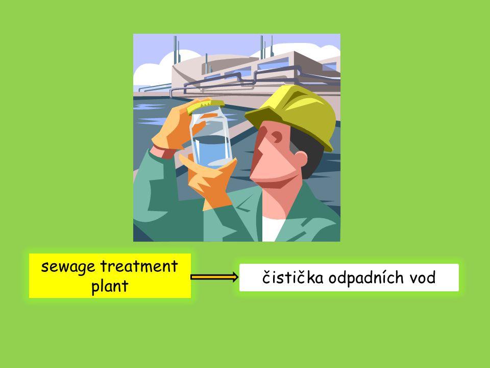 sewage treatment plant čistička odpadních vod
