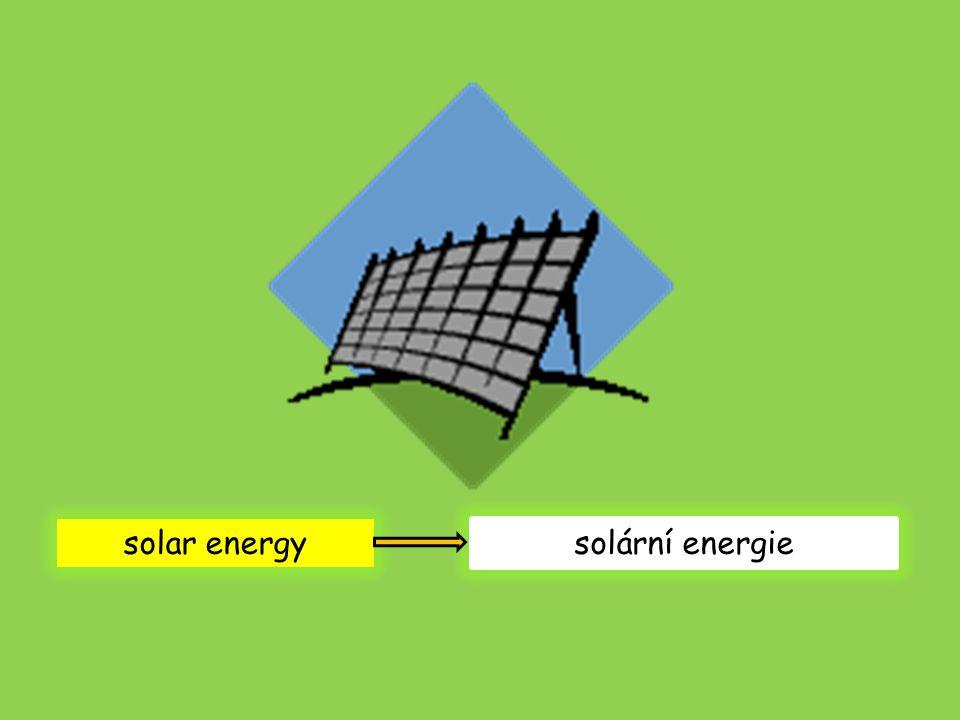 solar energy solární energie