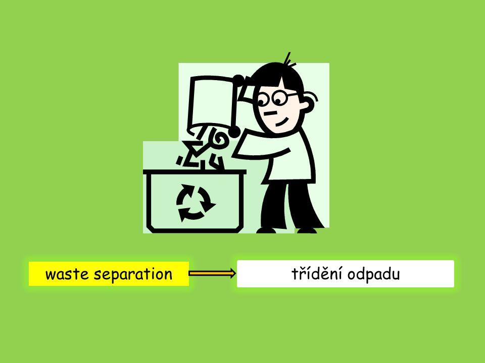 waste separation třídění odpadu