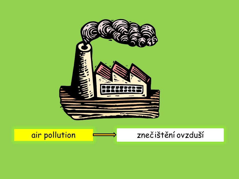 air pollution znečištění ovzduší