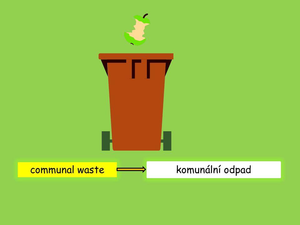 communal waste komunální odpad
