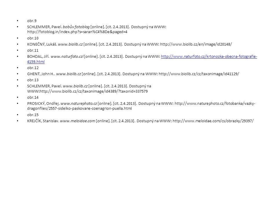 obr.9 SCHLEMMER, Pavel. bobův fotoblog [online]. [cit. 2.4.2013]. Dostupný na WWW: http://fotoblog.in/index.php?s=saran%C4%8De&paged=4 obr.10 KONEČNÝ,