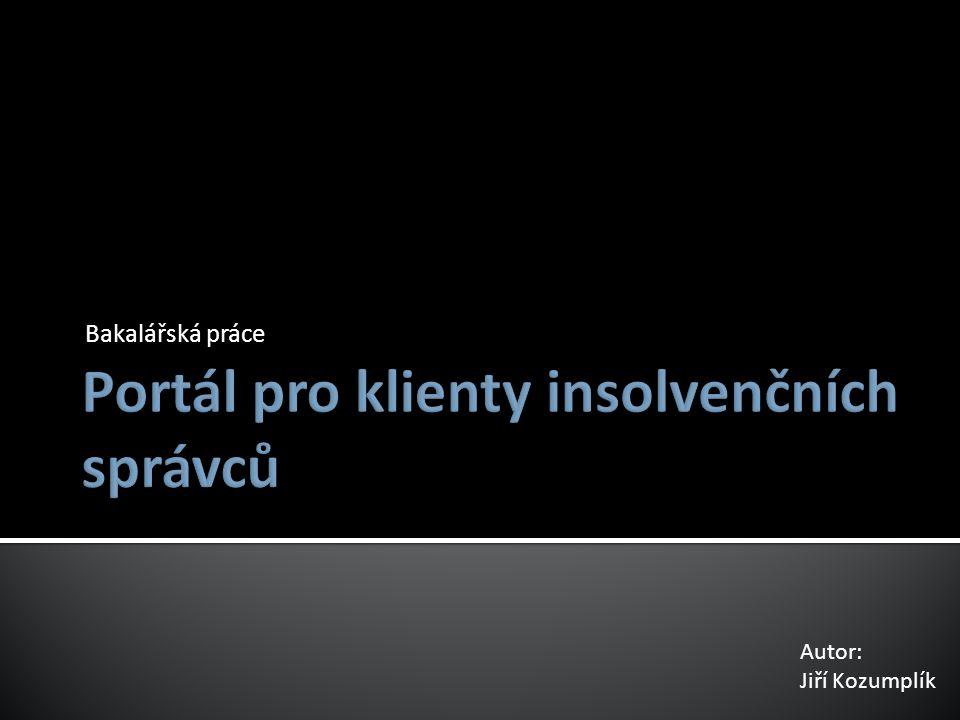  Seznámení se s problematikou insolvence. Zmapování procesů insolvenční kanceláře.