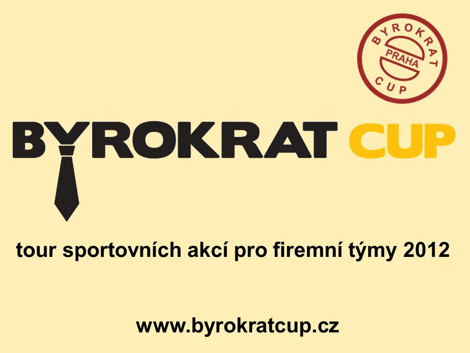 tour sportovních akcí pro firemní týmy 2012 www.byrokratcup.cz