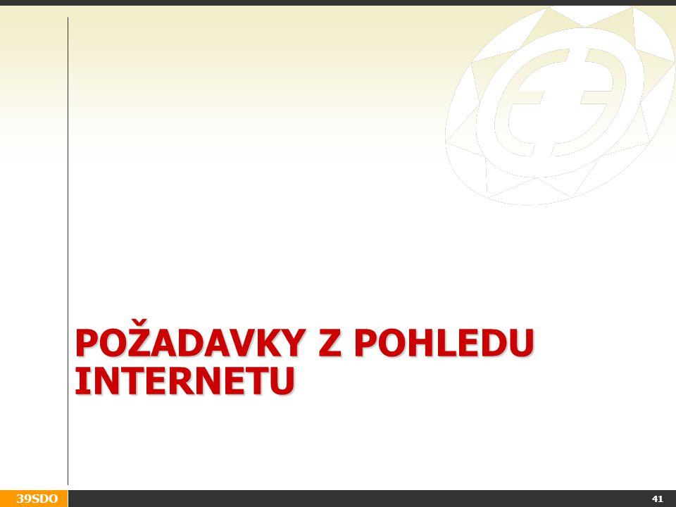 39SDO POŽADAVKY Z POHLEDU INTERNETU 41