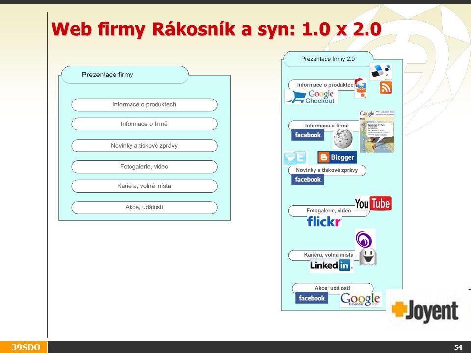 39SDO 54 Web firmy Rákosník a syn: 1.0 x 2.0