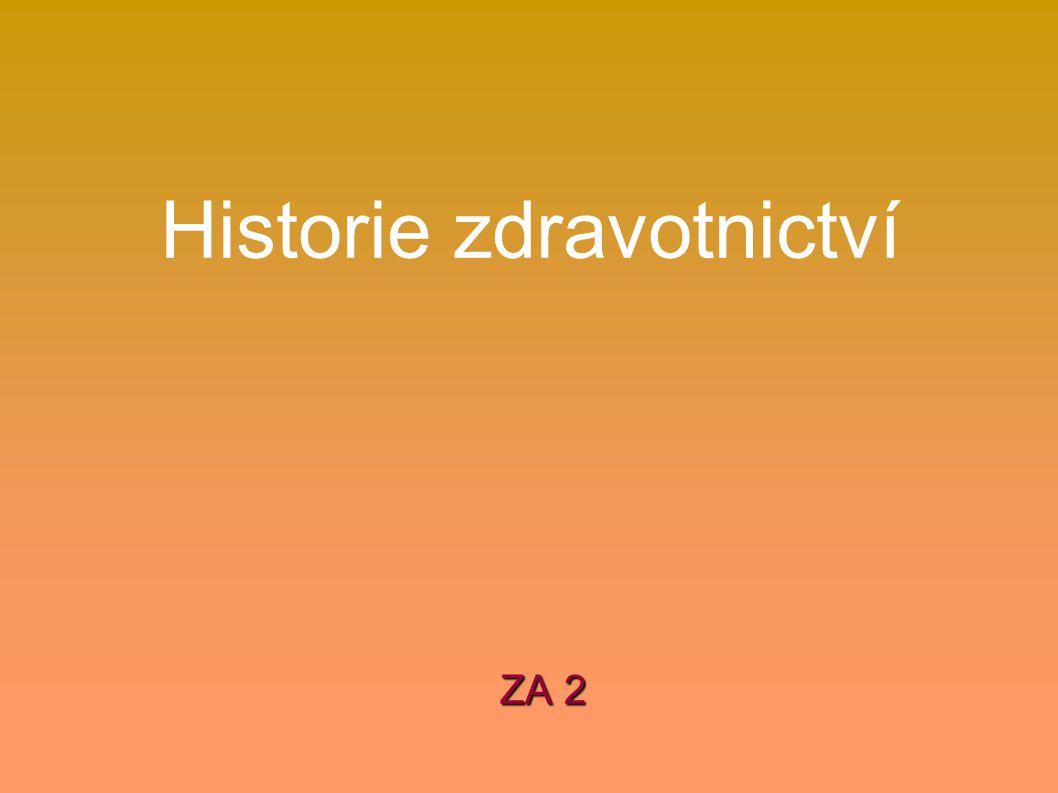 Historie zdravotnictví ZA 2