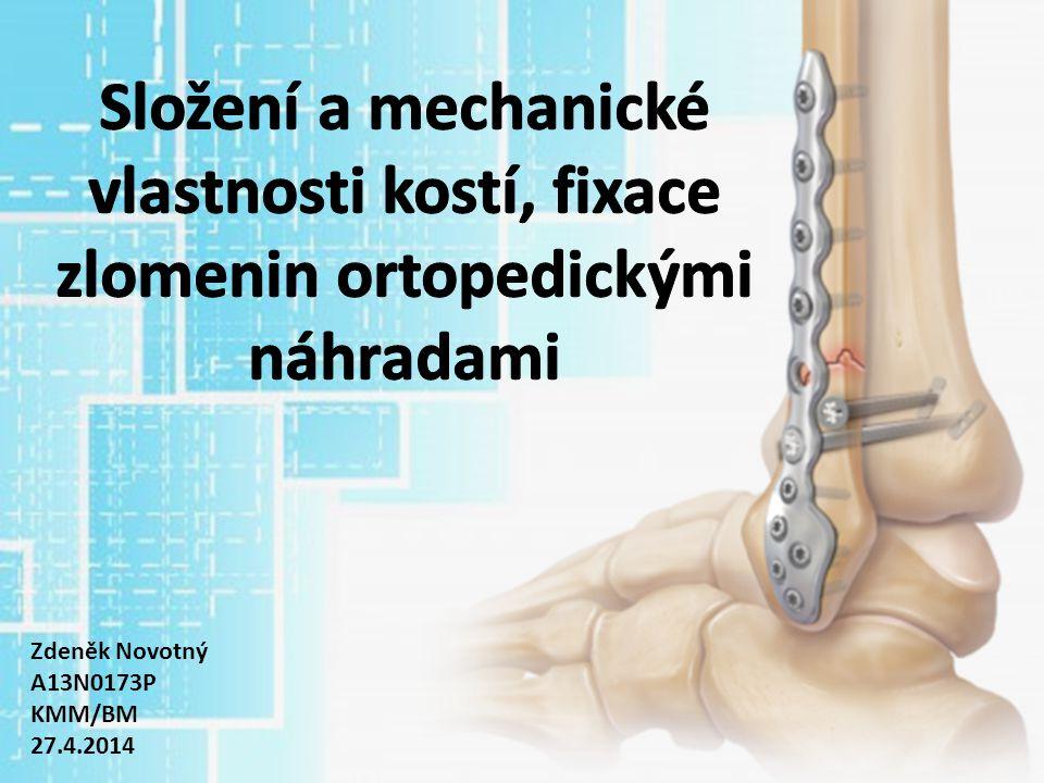 Obsah Kost – Složení, struktura – Biomechanika kostí Biomateriály pro fixaci zlomenin – Kovové materiály – Keramika – Ostatní (pHDPE, PEEK, PMMA)