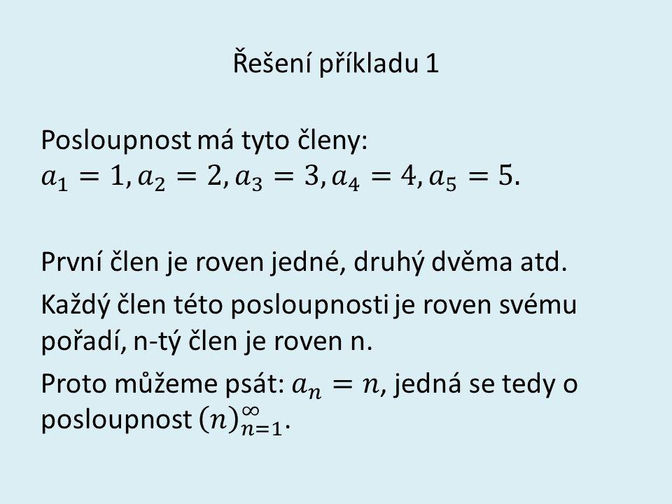 Řešení příkladu 1