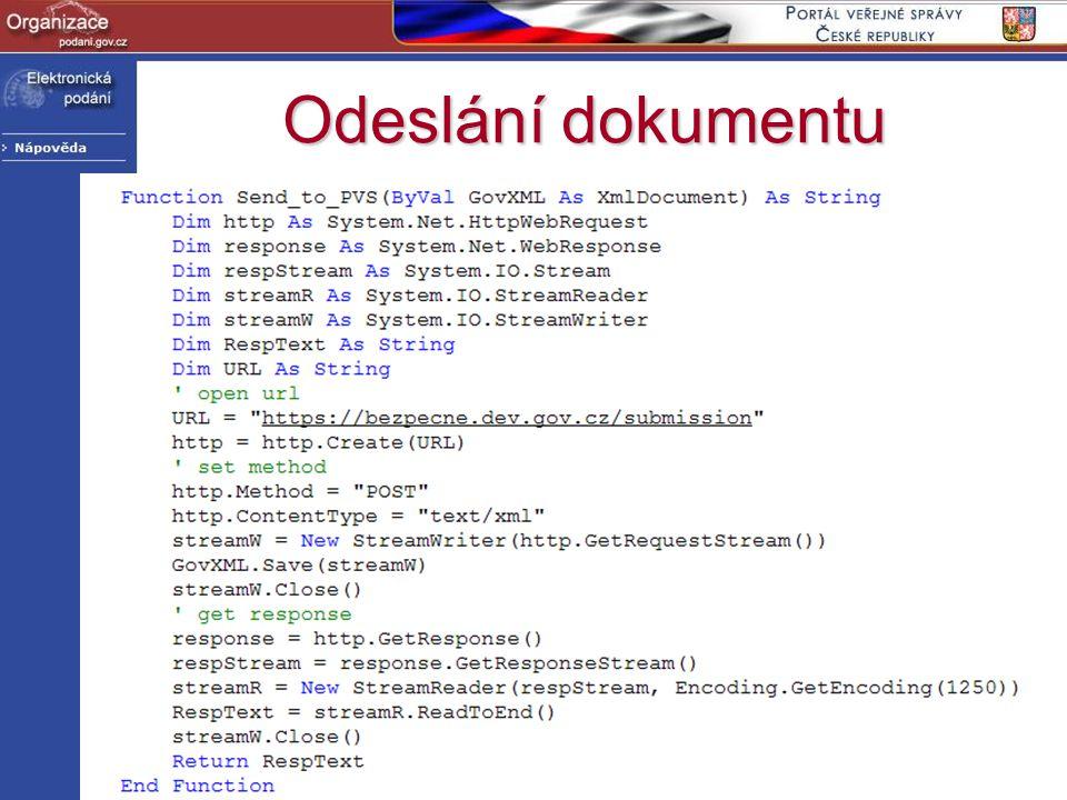 http://www.podani.gov.cz Odeslání dokumentu