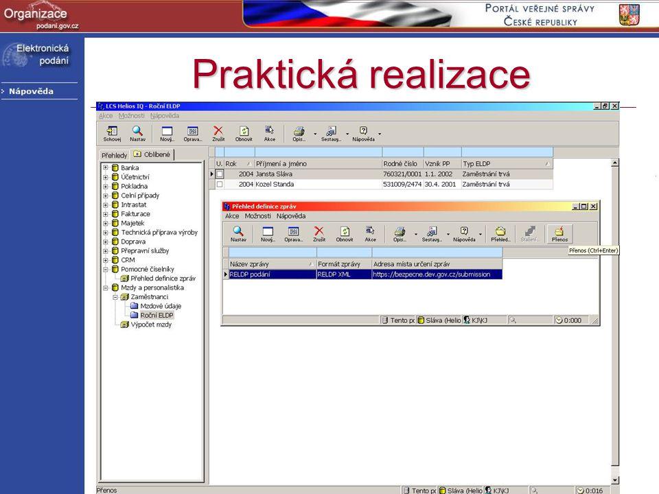 http://www.podani.gov.cz Praktická realizace Od 1.4. 2004 informace o RELDP a PVS na stránkách ČSSZOd 1.4. 2004 informace o RELDP a PVS na stránkách Č