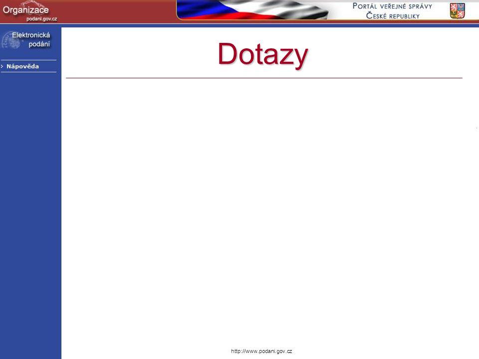 http://www.podani.gov.cz Dotazy