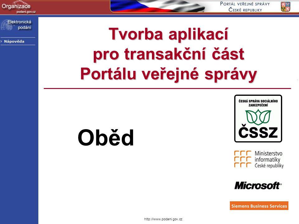 Tvorba aplikací pro transakční část Portálu veřejné správy Oběd