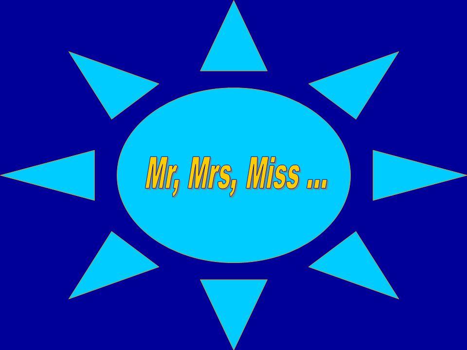 Před příjmením užíváme (a to ve všech pádech): Mr(.) Jones - pan Jones Mrs(.)Jones - paní Jonesová Miss Jones - slečna Jonesová Ms(.) Jones - slečna či paní Jonesová Good morning, Mr Jones.