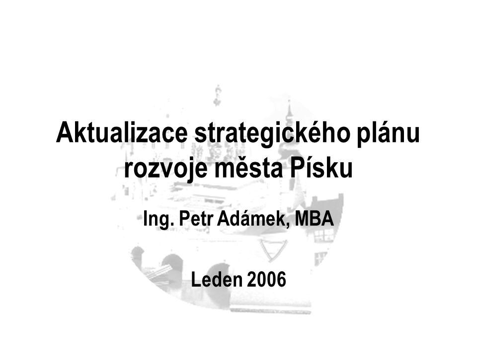 Aktualizace strategického plánu rozvoje města Písku Ing. Petr Adámek, MBA Leden 2006