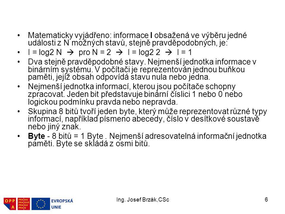 Ing.Josef Brzák,CSc27 3. Základy práce v síti (protokoly) 3.1.