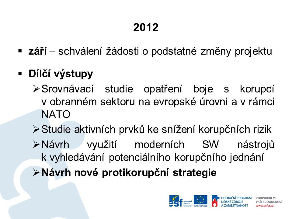 2013  Aktivní účast zástupců IMO v pracovní skupině MKS pro přípravu RRIPP (včetně vypořádání připomínek na jednání dne 17.