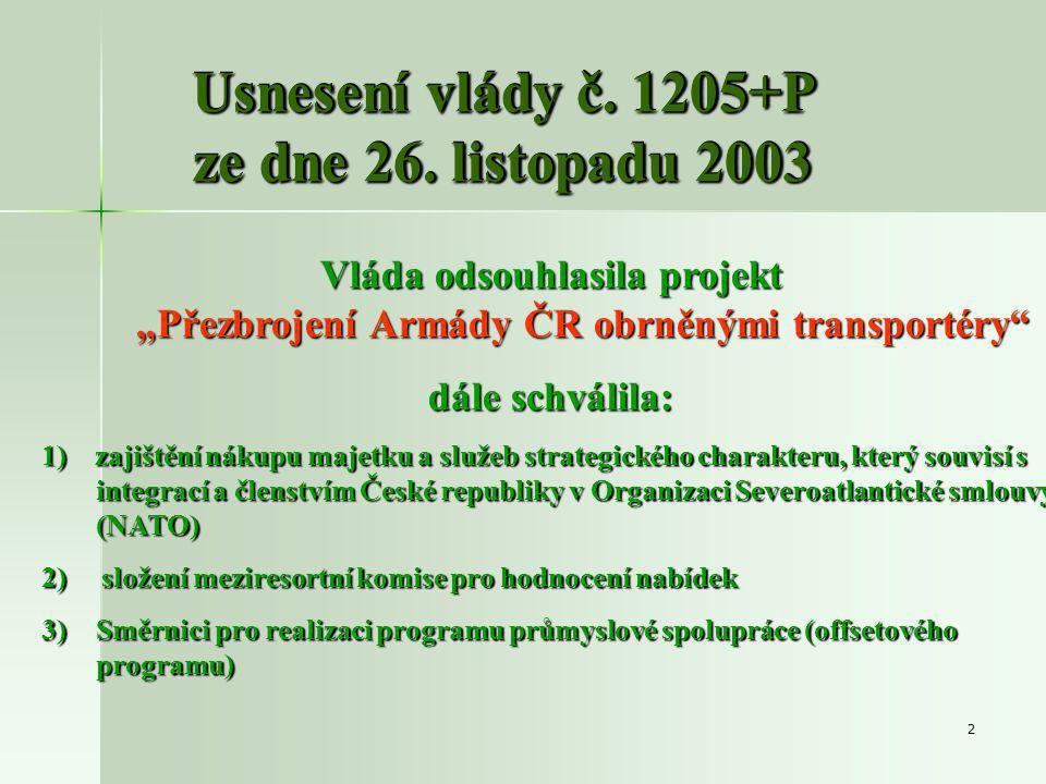 2 Usnesení vlády č. 1205+P ze dne 26.