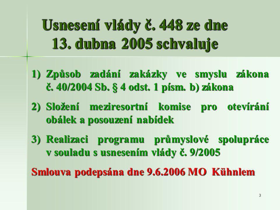 3 Usnesení vlády č. 448 ze dne 13.