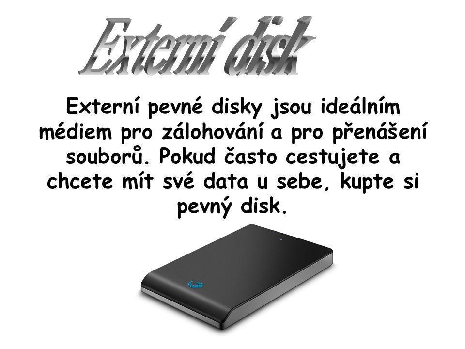 Externí pevné disky jsou ideálním médiem pro zálohování a pro přenášení souborů.