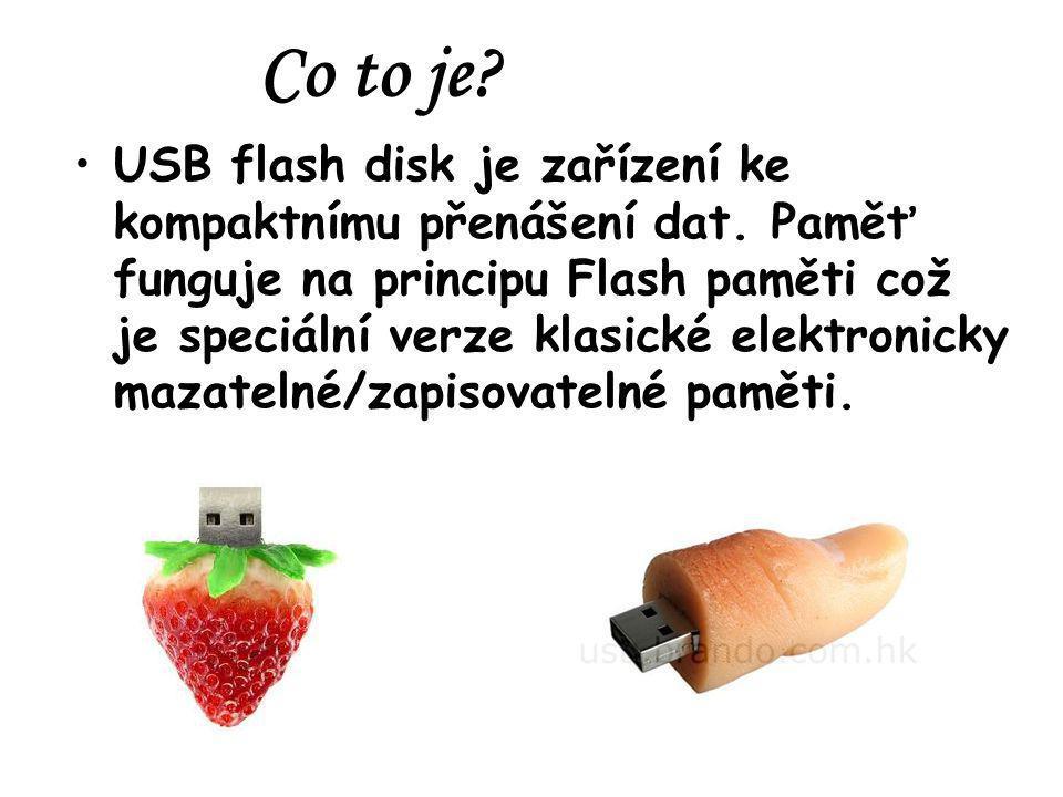 1.USB konektor 2. Mass storage controller - čip pro komunikaci s PC 3.