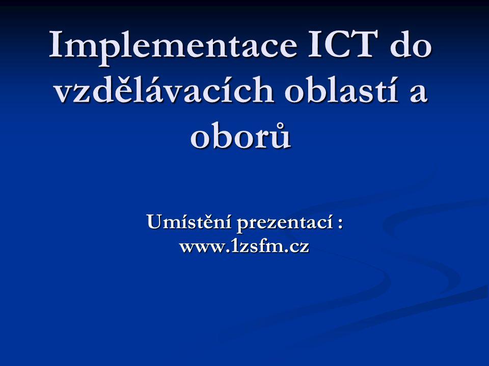 """Vzdělávací obor: Informatika Třída: 8.A, 8.B, 8.C Vyučující: Lukáš Maršálek, DiS Datum: 6.10.2005 Téma vyučovací hodiny: """"Hardware PC – interní (2 hodiny)"""" """"Hardware PC – interní (2 hodiny)"""" Vybavení učebny: připojení na INTERNET připojení na školní síť – výukové programy PC – notebook PC – notebook dataprojektor dataprojektor"""